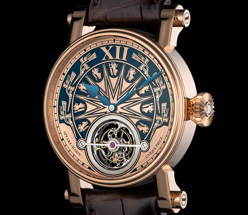 Montre Speake-Marin gravée à la main, Magister Dong Son